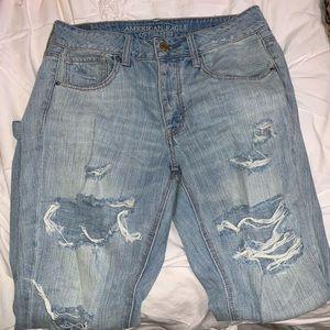 American Eagle Ripped Boyfriend Jeans